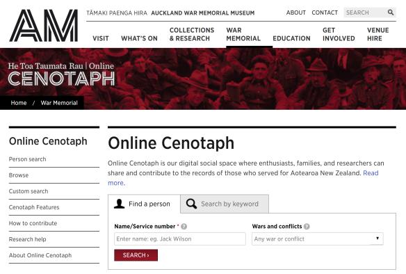 Online Cenotaph