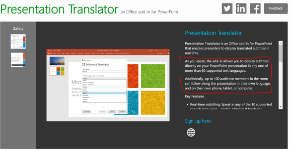 Presentation Translator